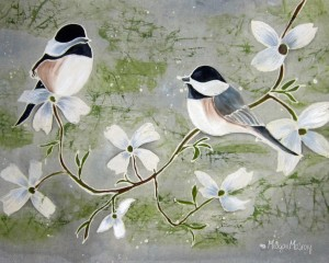chickadees print no words