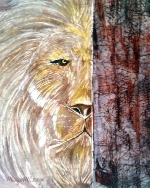 lion behind brokenness