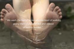 wash feet